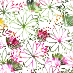 Floral pattern chammomile. Florals vector surface design.