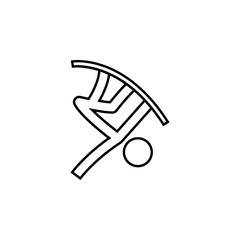 snowboard, slopestyle, winter, sport outline icon. Element of winter sport illustration. Signs and symbols icon can be used for web, logo, mobile app, UI, UX