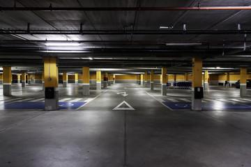 Indoor parking cars
