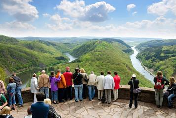 Saarland - Saarschleife Aussicht von der Cloef bei Orscholz