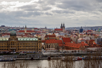 View on Prague. Day . Winter.