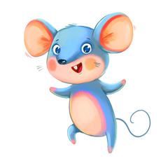 Cute Rat. Symbol of the Chinese New Year