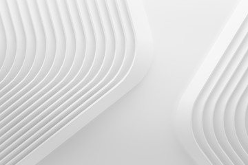 curve line white 3d background .