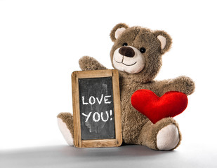 Teddy bear toy red heart Valentines Day Love You