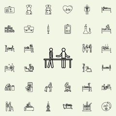 therapy icon. Hospital icons universal set for web and mobile