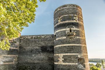 Angers, tour d'angle du château