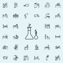chemicals icon. Hospital icons universal set for web and mobile