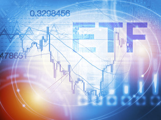 ETF - Exchange Traded Fund. Trade Market ICO IPO Financial Technology