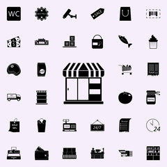 kiosk shop icon. market icons universal set for web and mobile