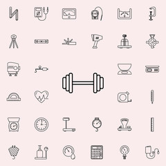 dumbbells icon. Measuring Instruments icons universal set for web and mobile