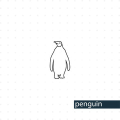 Emperor Penguin line icon