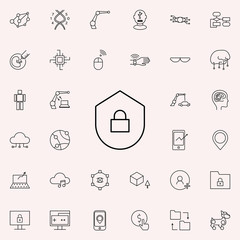 system security icon. New Technologies icons universal set for web and mobile