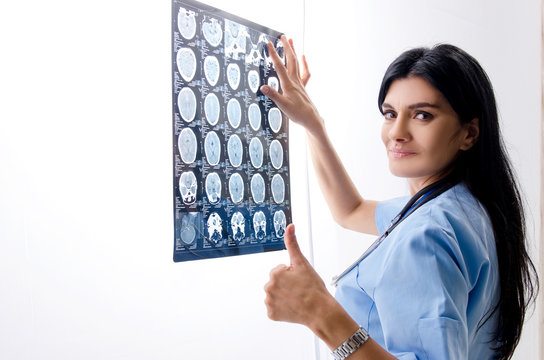 Female doctor radiologist working in the clinic