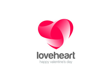 Heart Logo Love vector. Cardiology Medical. Valentines day icon