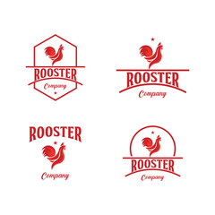 Rooster Company Logo Vector Template Design Illustration