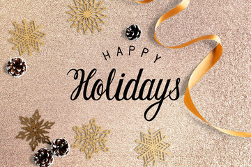 Happy holidays greeting design mockup