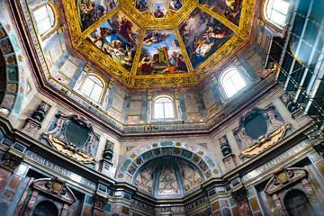 Biblical Paintings Dome Tombs San Lorenzo Medici Church Florence Italy