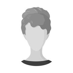 Isolated object of avatar and dummy icon. Collection of avatar and image stock symbol for web.