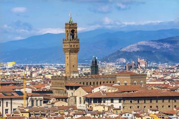 Palazzo Vecchio Florence Tuscany Italy.