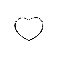 heart sketch icon. Element of Valentine's Day icon for mobile concept and web apps. Detailed heart sketch icon can be used for web and mobile
