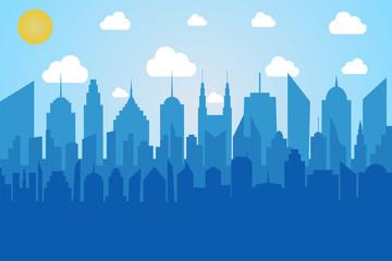 Comic cityscape concept