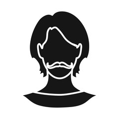 Vector illustration of avatar and dummy symbol. Collection of avatar and image vector icon for stock.