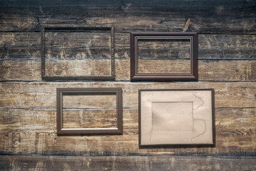 frames on old, wall