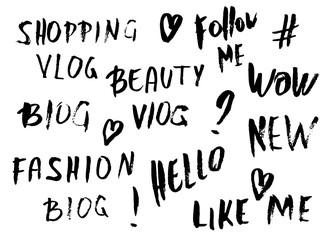 Handwritten lettering for social media network.