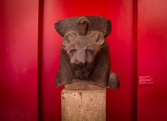 Head of a goddess statue