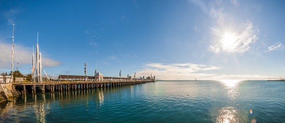 Cunningham Pier, Geelong, Coria Bay, Victoria, Australia, early morning.