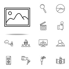 picture icon. Media, Press icons universal set for web and mobile