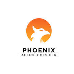 Phoenix Logo Design Inspiration, Vector illustration