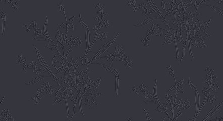 Floral seamless pattern can be used for wallpaper, textile printing, card. vector illustration of roses on dark background.