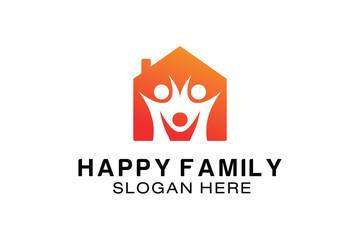 HAPPY FAMILY LOGO DESIGN TEMPLATE