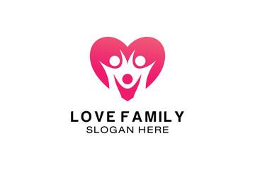 LOVE FAMILY LOGO DESIGN TEMPLATE