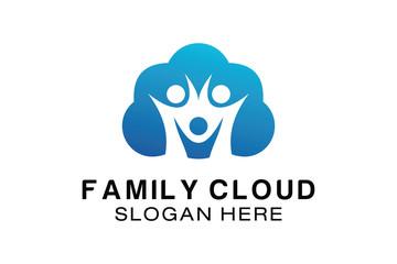 FAMILY CLOUD LOGO DESIGN TEMPLATE