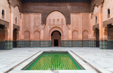 Arab courtyard of a monument, morocco