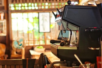 Coffee maker in Vintage home.