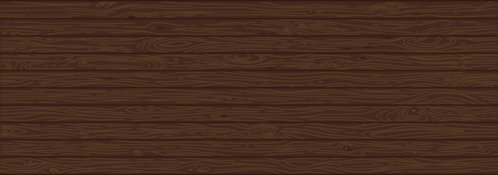 Brown wooden background. Old weathered wood surface with long boards lined up vector illustration.
