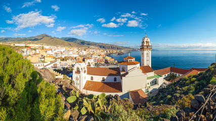 Wall Mural - Landscape with Candelaria town on Tenerife, Canary Islands, Spain