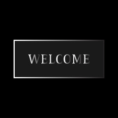 Vector illustration of the welcome icon. - Vector