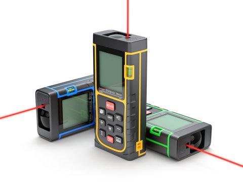 Three laser distance meter in XYZ direction