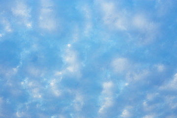 Full frame blue sky and cloud background.