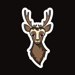 Head of a deer.