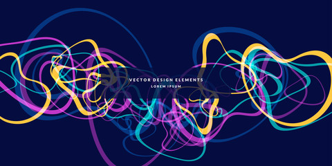 Bright abstract background with of colored lines.