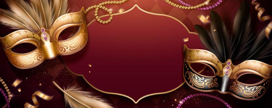 Carnival party banner design