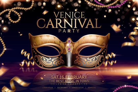 Venice carnival glamours design