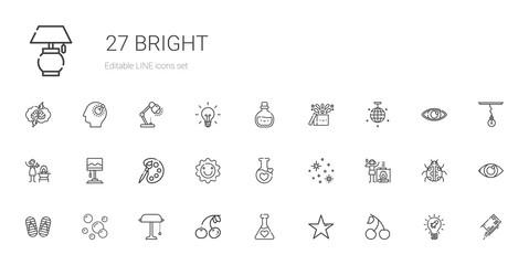 bright icons set