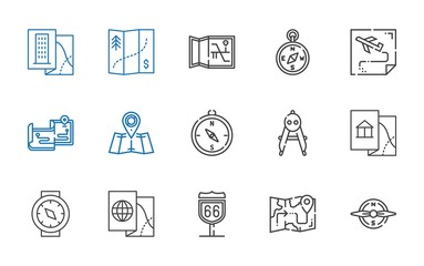 cartography icons set
