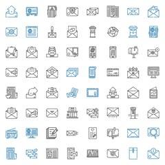 correspondence icons set